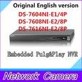 Versão em inglês DS-7604NI-E1 / 4 P DS-7608NI-E2 / 8 P NVR DS-7616NI-E2 / 8 P PoE econômica NVR 4ch 8ch 16ch NVR