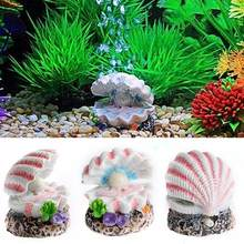 AsyPets Simulate Resin Shell Landscape Ornament for Aquarium Fish Tank Decoration-25(China)