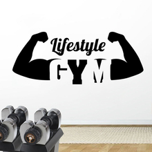 Gym Lifestyle Wall Sticker Removable Vinyl Bodybuilding Decal Fitness Club Decoration Logo Murals AY1579