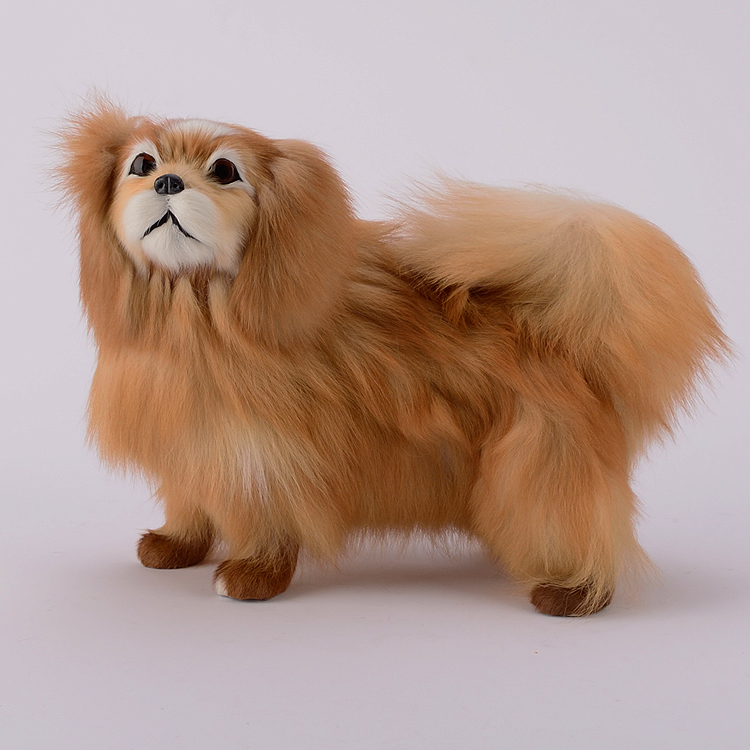 cute simulation standing dog plastic&fur yellow dog model gift about 32x16x25cm a82 mad about organics all natural dog