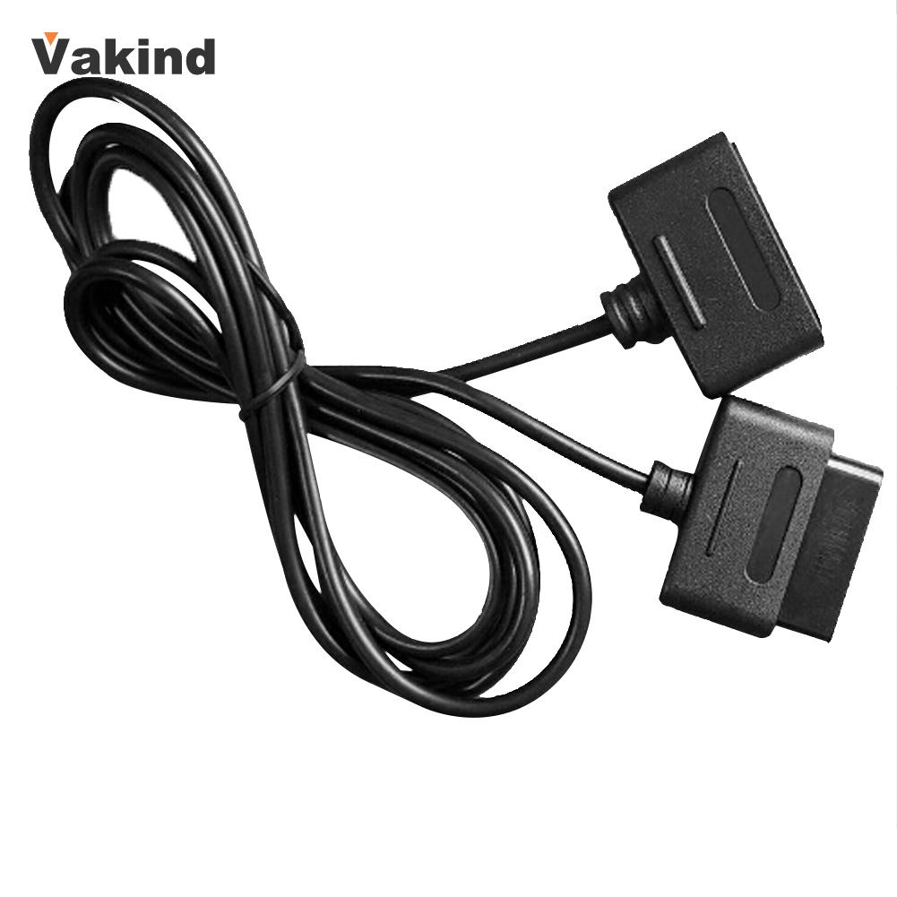 1 Pcs Extension Cable for Super Nintendo SNES Controller Compatible with Retro-Duo and FC Twin Black 50pcs new for snes controller extension cable for super nintendo for fami com consoles 6ft