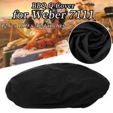 12.6x18.9x32.4 inch Waterproof BBQ Cover Accessories Grill Cover Anti Dust Rain Gas Charcoal Barbeque Grill for Weber 7111 Black(China)