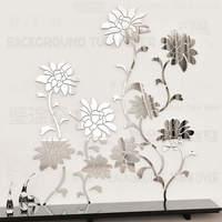 Various Colors DIY Elegant Flower Vine 3d Floral Wall Stickers For Living Room TV Wall Sofa