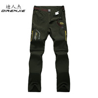 DIRENJIE Men's Summer Quick Dry Pants Outdoor Male Removable Shorts Hiking Camping Trekking Fishing Sport Trousers 6XL