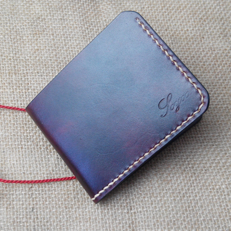Handwork Cow Leather Handmade Men Wallet High Quality Retro Genuine Leather Men Wallets Vegetable Tanned Leather Wallet Handmade gresso pr 2