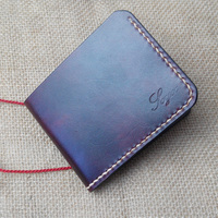 Handwork Cow Leather Handmade Men Wallet High Quality Retro Genuine Leather Men Wallets Vegetable Tanned Leather
