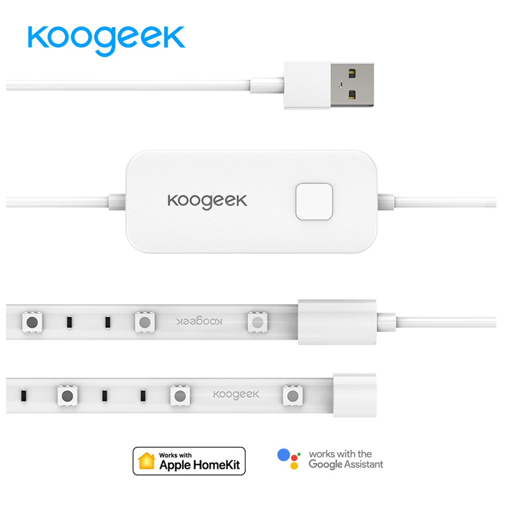 Koogeek LS1 Pro Wi-Fi умный свет полосы для Alexa Apple HomeKit голос Управление для Google помощник 16 миллионов Цвета затемнения