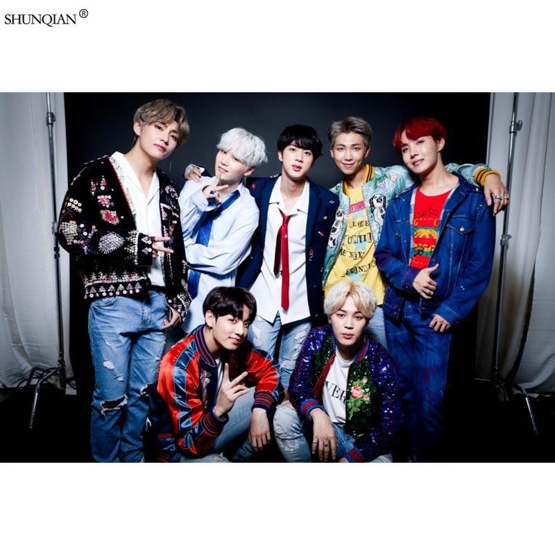 Bangtan Boys BTS Poster Print Silk Fabric Print Poster