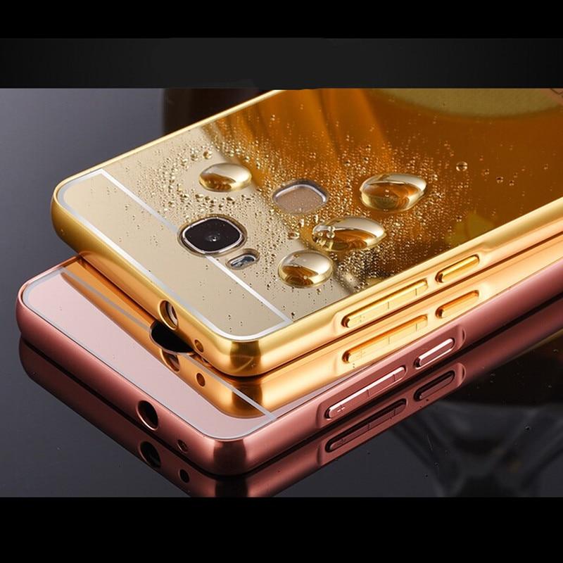 2282c231c40c Pour Huawei honor 5x Cas De Mode De Luxe Rose Or Miroir Cas de Téléphone  Pour Huawei honor 5x Couverture Arrière de shell