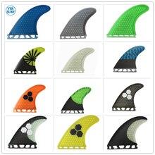 Dérives de Surf à structure en fibre de verre, à structure en nid dabeille jaune G5