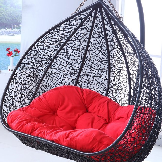 Chair Dormitory Balcony Bedroom Double Hammock Hanging Chair Indoor Outdoor  Swing Cradle Rattan Basket