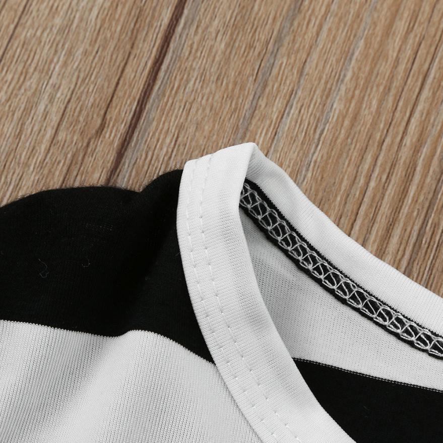 Kids Children Baby Gils Stripe Long Sleeve Dress Girls Casual Sundress Clothes Aug 25
