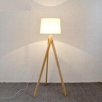 A1 The Nordic Modern Minimalist Art NEW Wind Wood Floor Lamp Bedside Lamp Tripod Vertical Study