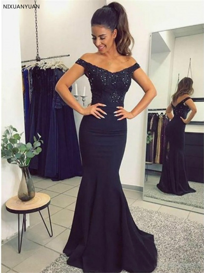 Elegant Long   Prom     Dresses   2019 Sexy Mermaid Sweetheart Sleeveless Sequin Appliques Gold Robe De Soiree Party   Dress   Formal   Dress