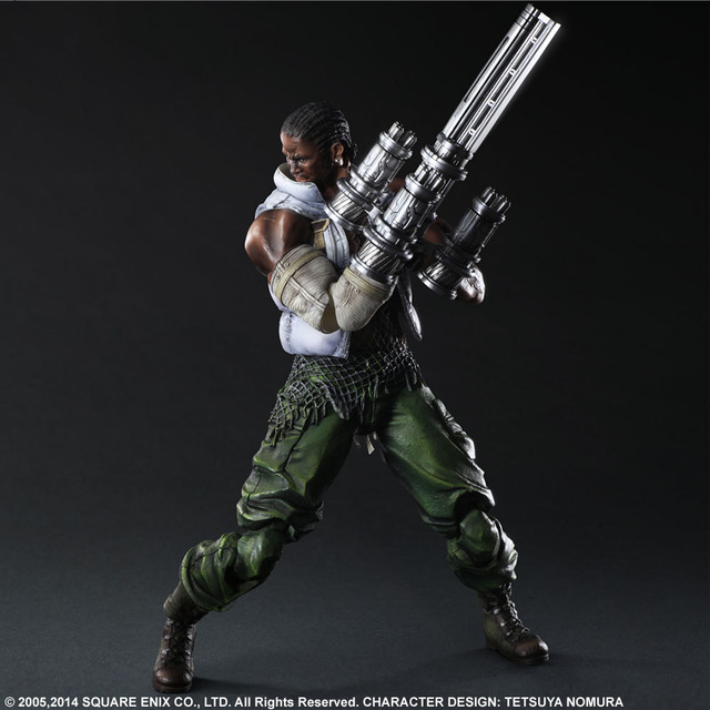 Final Fantasy VII Barret Wallace 28cm PVC Action Figure Collection Toy Doll