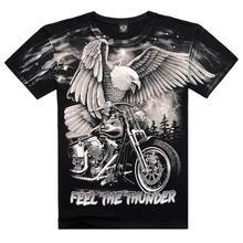 New Arrival 2016 Brand Summer Men's Fashion Cotton Short-sleeve 3D Printed Eagle Men's T Shirt Men Tops T Shirts