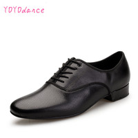 Leather Dance Shoes Men Sneakers Black Latin Ballroom Shoes Flat Heel Dance Shoes For Men Heel