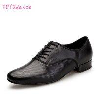 Ballroom Latin sapatos de Dança Sapatos de couro Homens Tênis Preto Sapatos de Salto Plana Plugue Calcanhar Tamanho homens de salão sapatos de dança Sapatos para Homens 7331