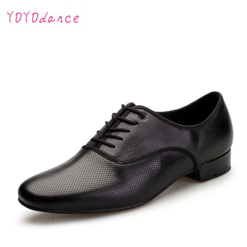 Leather Dance Shoes Men Sneakers Black Latin Ballroom Shoes Flat Heel Dance Shoes for Men Heel Plug Size ballroom men shoes 7331 лев толстой anna karenina 1 band