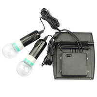 Solar energy lighting LED emergency lamp with double line switch bulb solar garden lights