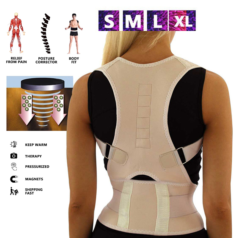 Sitting Posture Corrector Adjustable Magnetic Shape Body Shoulder Brace Belt Men And Women Back Vertebra Correct Therapy JS88