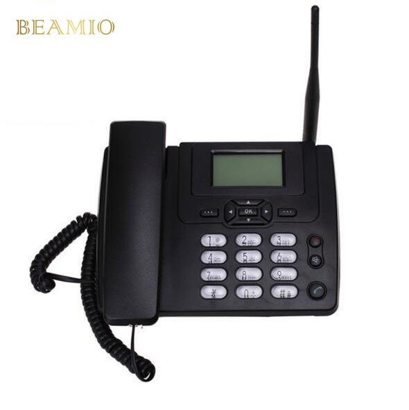 GSM ETS3125i GSM Fixo Telefone Fixo de Telefone de Mesa Com Rádio FM 900/1800 MHz Sem Fio Fixo de Telefone Telefone de Casa Preto