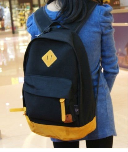 "Free shipping NEW ""Girl's Stylish Fashion Item High Quality School Backpack Bag YOUNG GIRLS black  COLOURS computer bag notebook"