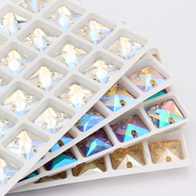 Crystal Rhinestone Glass Stone arts and crafts dress Sew on Decorative Applique for needlework Accessorie