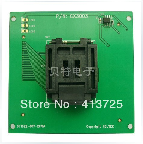 Sirte block QFP44 dedicated IC, CX3003 programming adapter test ic qfp32 programming block sa636 block burning test socket adapter convert