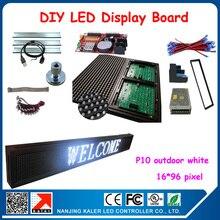 3pcs p10 white led modules display indicator board programmable moving message led sign 16*96 pixel diy kits