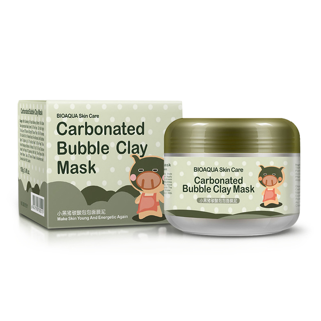 New Foam Black Mask Piggy Carbonated Bubble Clay Mask 100g Remove Blackhead Acne Purifying Pores Face Care Facial Sleeping Mask