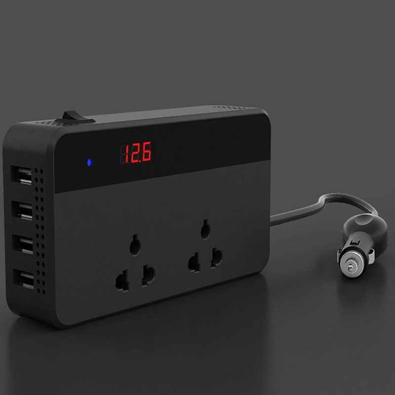 Car Inverter Power 200W DC 12V To AC 220V Portable Converter Car Electronic LED Display Cigarette Lighter USB Charger Universal