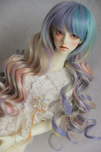 1 3 Bjd doll wig colored ice cream candy color 3 HARAJUKU vintage young girl kinkiness