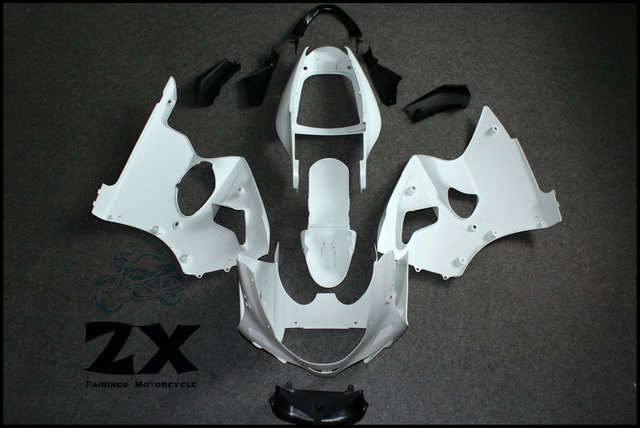 ABS Injection Unpainted Bodywork Fairing For Kawasaki Ninja ZX6R 636 2000 2001 2002 For ZZR600 2005 2006 2007 2008 abs injection unpainted bodywork fairing for kawasaki ninja zx6r 636 2000 2001 2002 for zzr600 2005 2006 2007 2008
