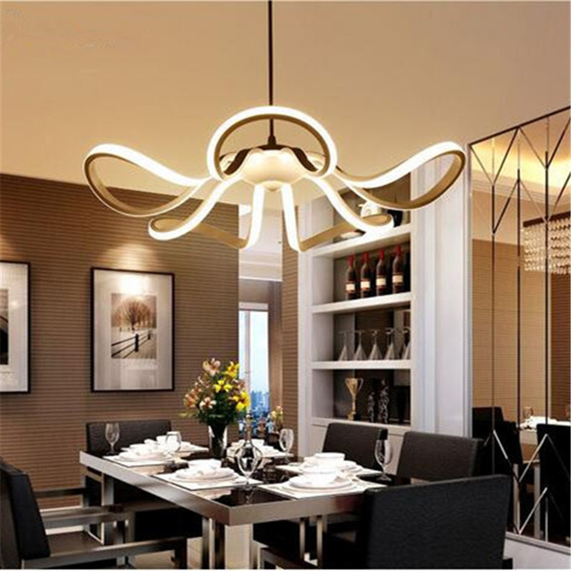 Free Shipping 2017 New Modern Pendant lights for Living room Dining room Acrylic Aluminum body Hanging lamp LED Lighting Fixture new gold modern pendant lights for living room dining room hanging pendant lamp fixtures free shipping