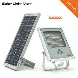 Alpha 1200X 3 modos de potencia 180LED 300-1400lm 5m Cable automático Solar LED Luz de inundación al aire libre lámpara impermeable