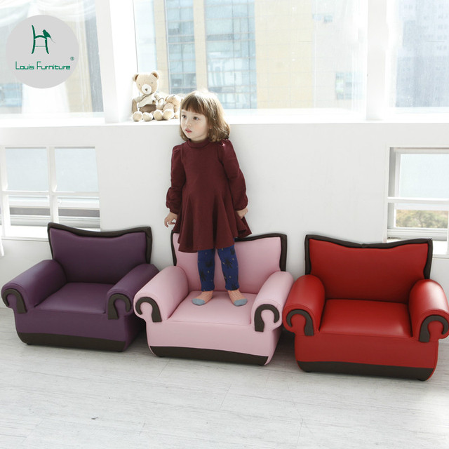Louis Fashion Childrens Sofa Chair Baby Single Person Double Learning Entertainment Multi Function