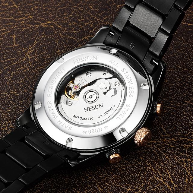 Swiss Luxury Brand NESUN Watch Multifunctional Display Automatic Self-Wind Watch 4