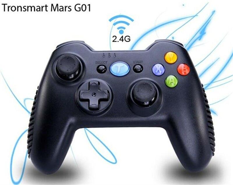 Tronsmart G01 2.4G manette de jeu de manette sans fil pour android TV Box Mini Pc tablette smartphone PC pour jeux PS3