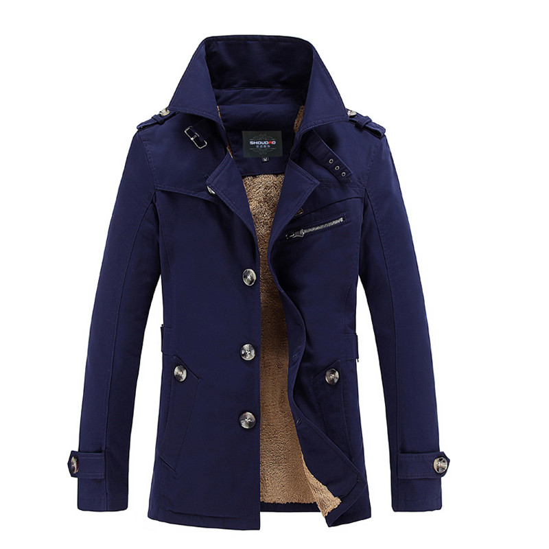 ФОТО High quality 2016 Autumn Winter Fashion Brand Clothing Jacket Men Casual Slim Fit Mens Coat Thick Mens Jackets And Coats