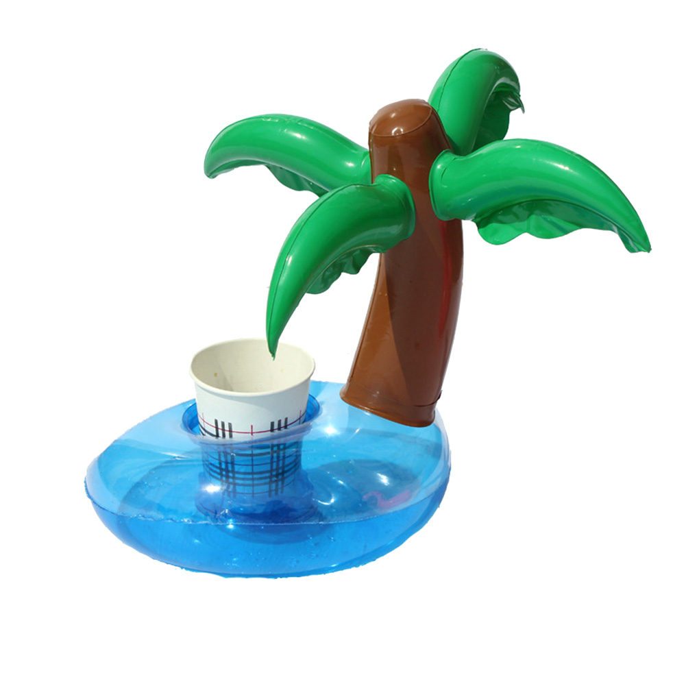 1 PCS Mini Coconut Trees Watermelon Floating Inflatable Toys Drink Can Cell Phone Holder Stand Pool Bath Toys