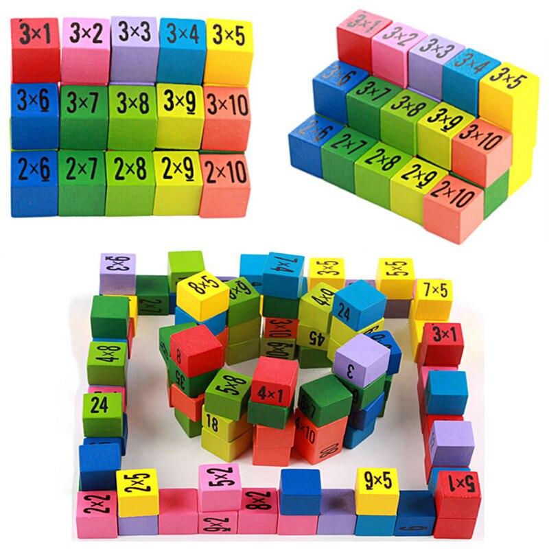 Colrful 99 таблица умножения математическая игрушка Детские деревянные игрушки 10*10 фигурки блоки Детские Обучающие подарки Монтессори детские ...