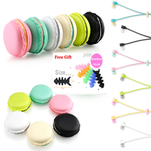 New Hot Macarons Design in ear Earphones Headsets For All Phones MP3 Players Cute