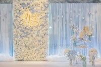 10ft x 20ft светло голубой шелк льда с шифоновым 2 слоями свадебный фон сценические украшения для свадебного занавеса