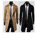 free shipping casaco masculino 2016 mens Double breasted winter jackets slim plus size long trench coat men windbreaker jaqueta