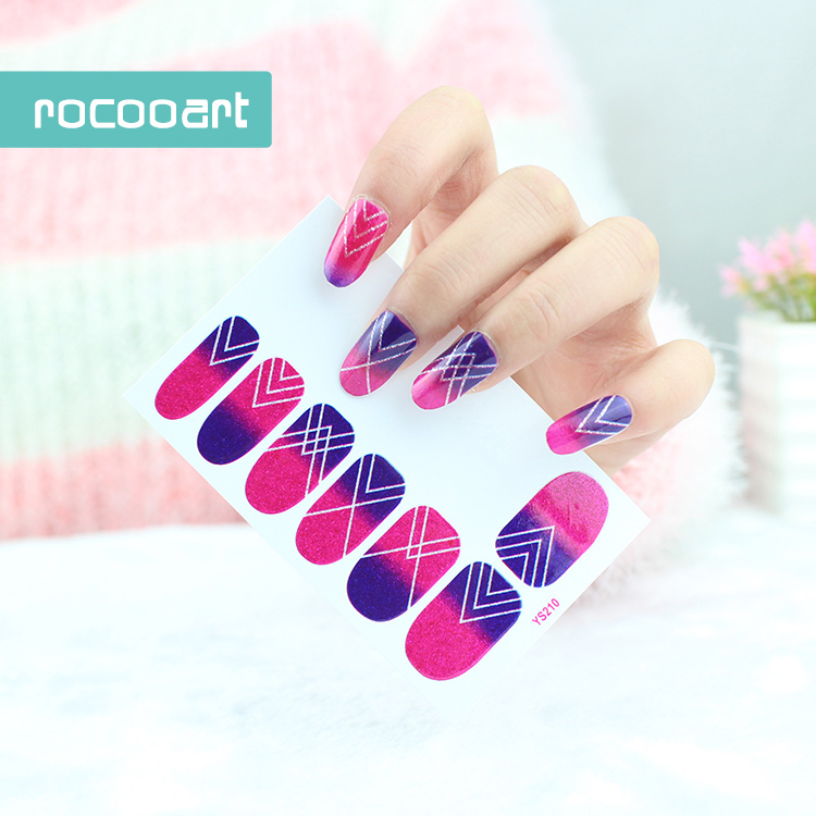 15 Different Self Adhesive Flower Nail Art Stickers French Full Nail ...