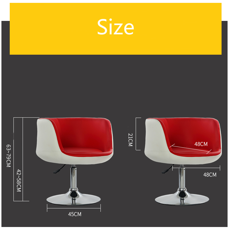 Creative Fashion Computer Chair Lifted Rotated Household Leisure Chair Office Staff Meeting Swivel Chair Nail Art Makeup Stool