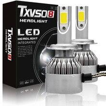 купить TXVSO8 2x led H7 LED Fog Light Bulbs Kits-Flip COB Chips-55W 26000LM Pair 6000K (Pack of 2) Auto Led Headlight Bulb 55W/Bulb дешево