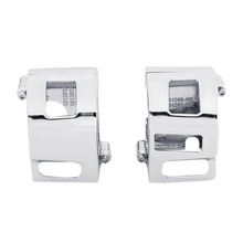 Pair Chrome Switch Housings Cover For Yamaha XVS V-Star 650 Custom motorbike Road Star Models Kawasaki Vulcan 2000