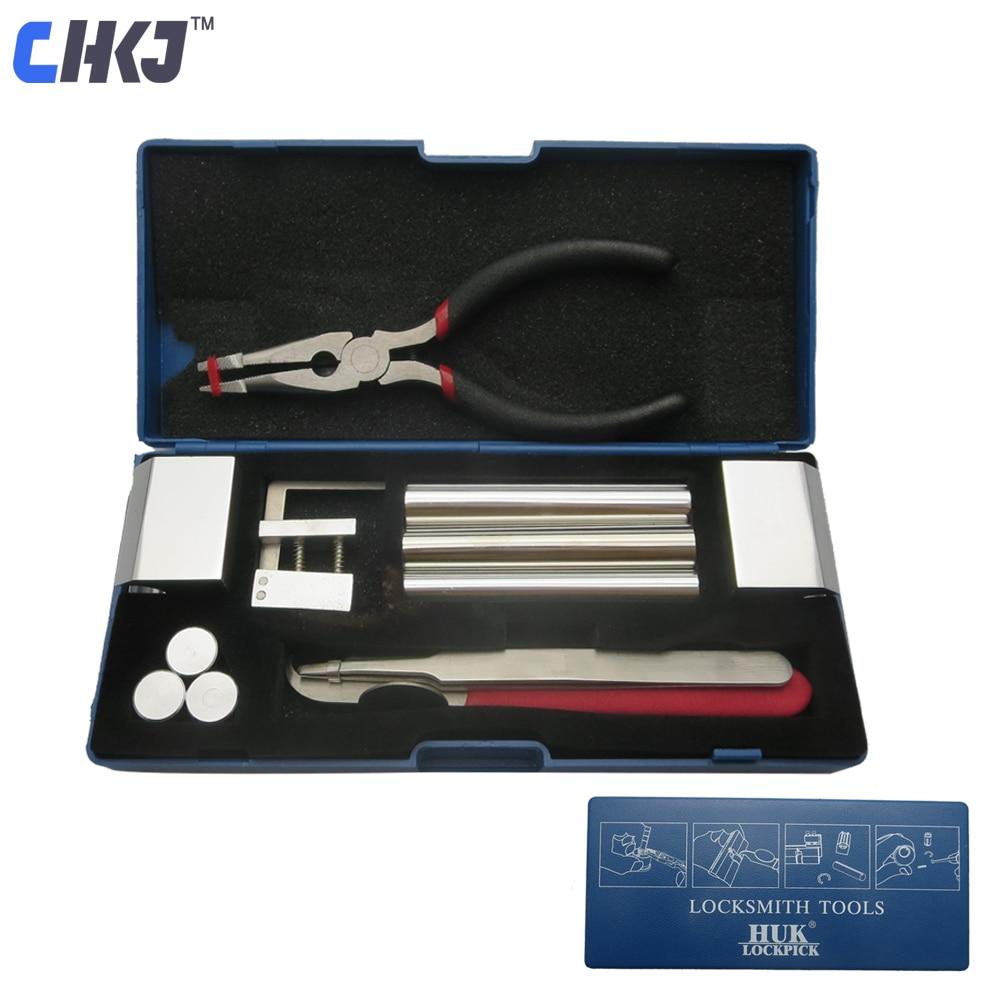 Chkj original huk profissional 12 em 1 huk bloqueio ferramenta de desmontagem ferramentas serralheiro kit remover bloqueio reparação conjunto picareta